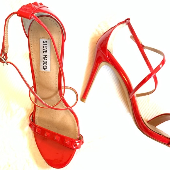 83ae74bfff0 Steve Madden Fayy Red Strappy Heels